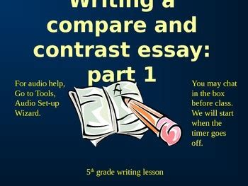 Five paragraph compare and contrast essay